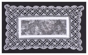 44 x 24 cm unframed Handmade lace Hard ground etching Edition of 7