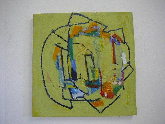Recycled 4/b 55 x 54 cm Acrylic on canvas