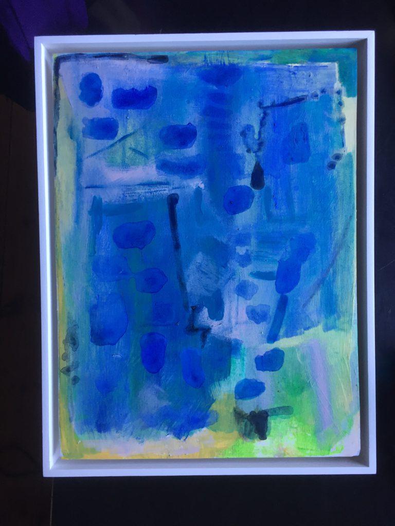 Blue Quartet. Acrylic on board