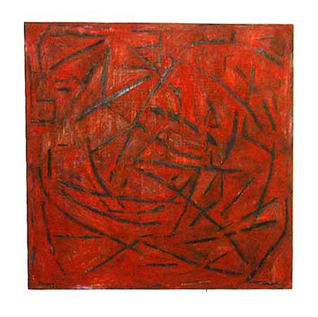 Stella Rosa / Incantation series / Size: 171 x 171 cm / acrylic on canvas