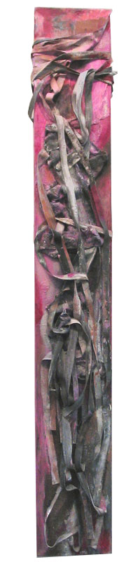 title: woman 3 / series: tiw / size: 150 x 22 cm / media: acrylic on canvas / 2004