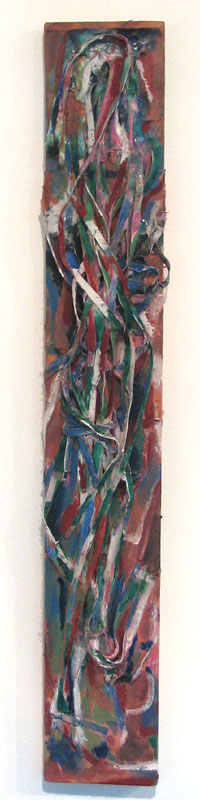 title: woman 1 / series: tiw / size: 15 x 100 cm / media: acrylic on canvas / 2004