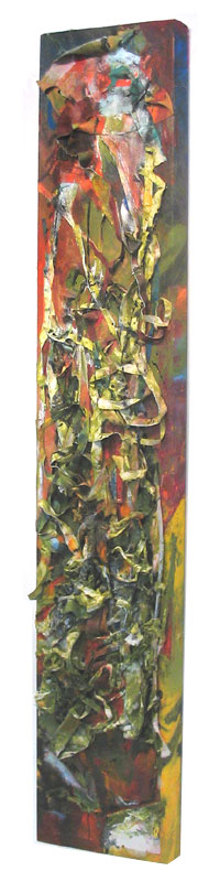 title: woman 4 / series: tiw / size: 41 x 191 cm / media: acrylic on canvas / 2004