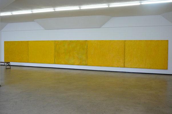 Breathe / acrylic on canvas, 1860 x 2700 cm x 5, 2000/2001