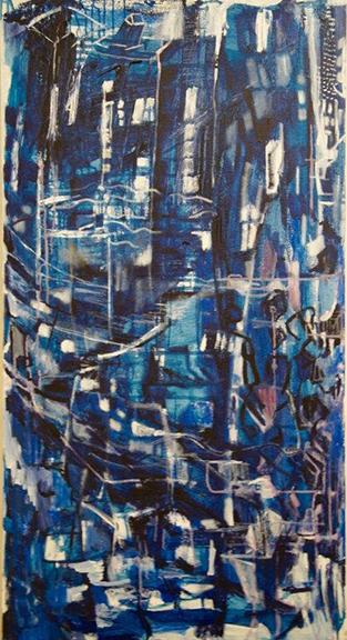 Airborne 1 Acrylic on canvas 700 x 1300 cm April 2016