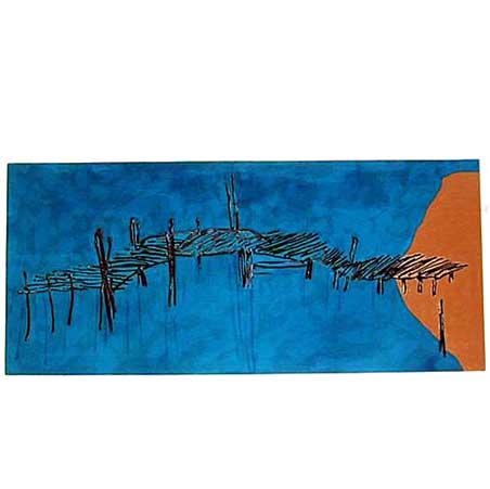 Jetti #9 / Size: 80 x 181 cm / acrylic on canvas 2000