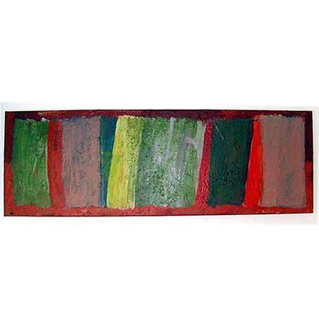 music series / Marimba / Size: 70 x 210 cm / acrylic on canvas 1996