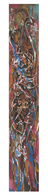 title: woman 2 / series: tiw / size: 19 x 110 cm / media: acrylic on canvas / 2004