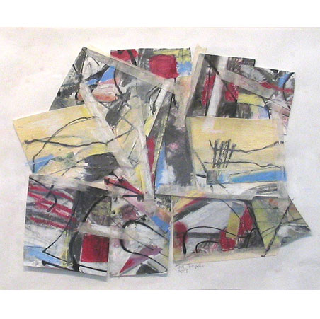 title: holiday / series: tiw / size: 58 x 50 cm / media: mixed media on paper / 2004